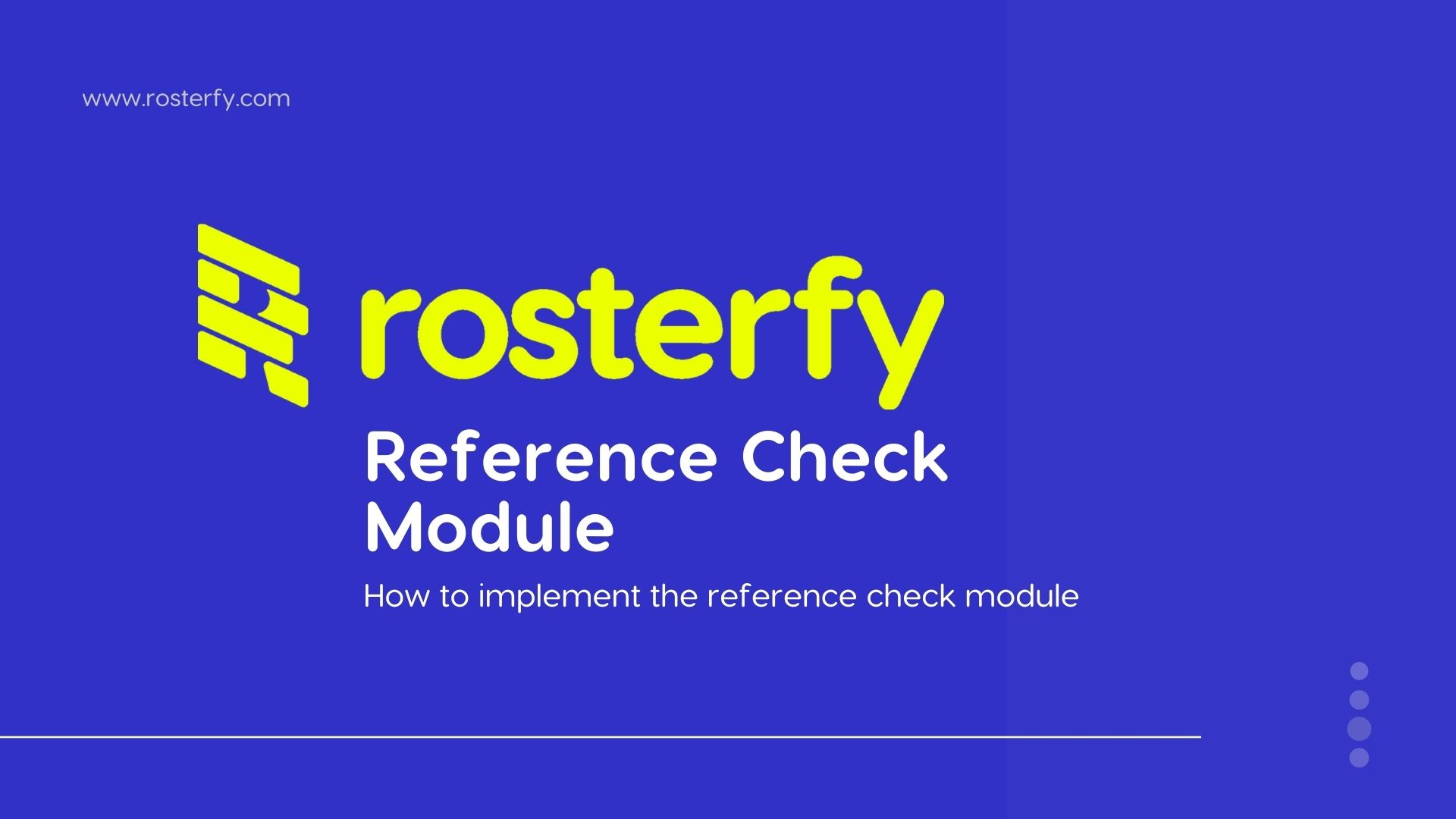 Reference Check Module